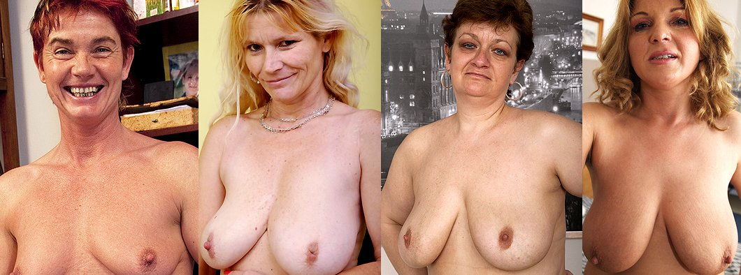 Naked older women showing natural tits